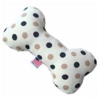 Plush Bone Dog Toy Beach Dots - 6 in. - 1
