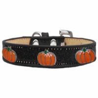 Pumpkin Widget Ice Cream Dog Collar, Black - Size 10 - 1
