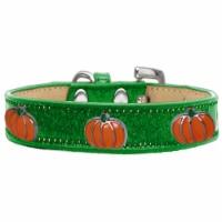Pumpkin Widget Ice Cream Dog Collar, Emerald Green - Size 12 - 1