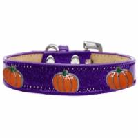 Pumpkin Widget Ice Cream Dog Collar, Purple - Size 16 - 1