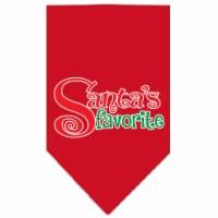 Santas Favorite Screen Print Pet Bandana, Red - Small - 1