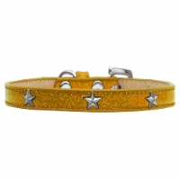 Silver Star Widget Dog Collar, Gold Ice Cream - Size 10