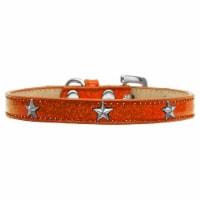Silver Star Widget Dog Collar, Orange Ice Cream - Size 20 - 1