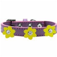 Premium Collar, Lavender with Yellow Flowers - Size 20 - 1