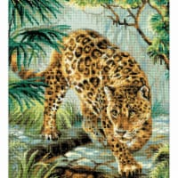 11.75 x 15.75 in. Owner of The Jungle Counted Cross Stitch Kit - 14 Count - 14