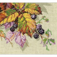 10.25 x 7.75 in. Blackberries Counted Cross Stitch Kit - 15 Count - 15