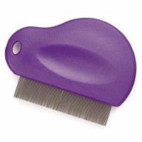 Contouted Grip Flea Comb Pur - 1