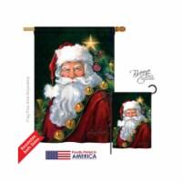 Christmas Santa Portrait 2-Sided Vertical Impression House Flag - 28 x 40 in. - 1