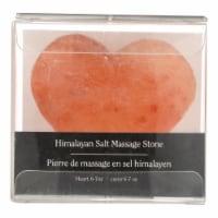 Evolution Salt Crystal Salt Stone - Massage Cleansing - Heart - 6 oz - Pack of 3 - Case of 3 - 6 OZ each