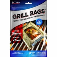 Jaccard 201505 Heavy Duty Aluminum Foil Grill & Oven Bag with Self Venting Window, Medium - 3