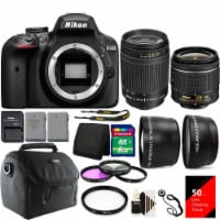 Nikon D3400 Digital Slr Camera With 18-55mm Vr Lens , 70-300mm Lens And Accessories - 1