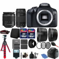 Canon Eos Rebel 1300d Dslr Camera With 18-55 & 75-300mm Lens + Two Battery Kit - 1