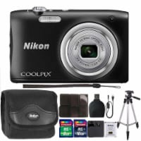 Nikon Coolpix A100 20.1mp Compact Digital Camera 5x Optical Zoom Black With Accessories - 1