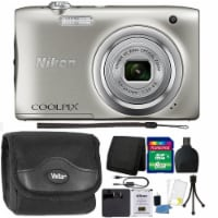 Nikon Coolpix A100 20.1mp Compact Digital Camera Silver With 8gb Bundle - 1