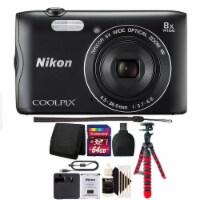 Nikon Coolpix A300 20.1mp Compact Digital Camera Black With Accessories
