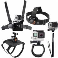 All In One Dog Mount, Chestmount, Head Mount, Wrist Band And Monopod For Gopro Hero 3/3+/4/4+
