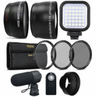 58mm Fisheye Wide Angle Lens, Telephoto Lens And Accessory Kit For Canon 750d And 760d - 1