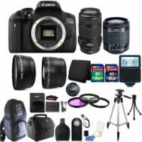 Canon Eos 750d / T6i 24.2mp Dslr Camera + 18-55mm + 70-300mm Is Usm Lens + Kit - 1