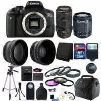 Canon Eos 750d / T6i 24.2mp D-slr Camera With 18-55mm + 70-300mm Is Usm Lens Kit - 1