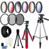 52mm Color Filter Kit With Accessory Kit For Nikon D3300 , D3400 , D5300 And D5500 - 1