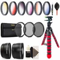 58mm Top Deluxe Lens Kit + Tripod For Canon Eos 70d 700d 1200d 1300d - 1