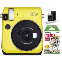 Fujifilm Instax Mini 70 Instant Film Camera Yellow With Accessories