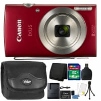 Canon Ixus 185 / Elph 180 20.0mp Digital Camera 8x Optical Zoom Red + Ultimate Accessory Kit