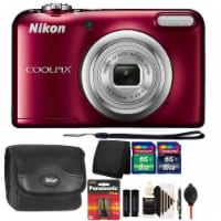 Nikon Coolpix A10 16.1mp Compact Digital Camera Red With Accessories