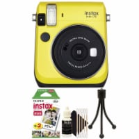 Fujifilm Instax Mini 70 Instant Film Camera Yellow With Accessory Kit