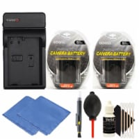 2 Lp-e6 Battery With Charger And Cleaning Kit For Canon Eos 70d And 60d