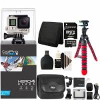 Gopro Hero4 Black Edition Hd Camera Camcorder With Accessory Bundle