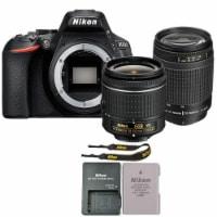 Nikon D5600 24.2 Mp Digital Slr Camera + 18-55mm Vr And 70-300mm Lens - 1