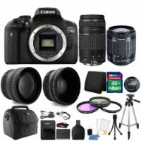 Canon Eos 750d / T6i 24.2mp Dslr Camera + 18-55mm Is Stm + 75-300mm Lens Bundle