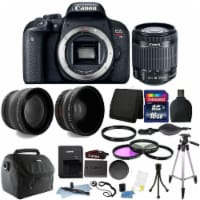 Canon Eos Rebel T7i 24.2mp Digital Slr Camera With 18-55mm Lens And 16gb Accessory Bundle