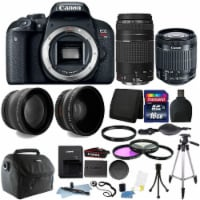 Canon Eos Rebel T7i 24.2mp Dslr + 18-55 Is Stm + 75-300mm Lens + 16gb Bundle - 1