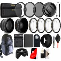 Lp-e8 Replacement Battery, Charger And 58mm Accessory Kit For Canon Dslr Cameras - 1