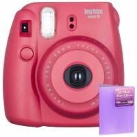 Fujifilm Instax Mini 8 Instant Film Camera Raspberry With 4 X 6 Photo Album