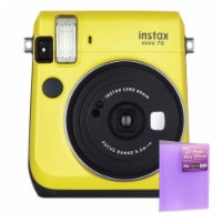 Fujifilm Instax Mini 70 Instant Film Camera Yellow With 4 X 6 Photo Album