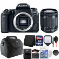 Canon Eos 77d Digital Slr Camera With 18-55mm Lens And Top Accessory Bundle - 1