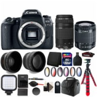 Canon Eos 77d Dslr Camera With 18-55mm Is Stm Lens , 75-300mm Lens And Accessory Bundle