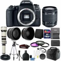 Canon Eos 77d 24.2mp Dslr Camera + 18-55mm + 650-1300mm + 16gb Accessory Bundle