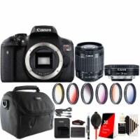 Canon Eos Rebel T6i / 750d Dslr Camera + 18-55mm + 24mm 2.8 Stm & Accessory Kit - 1