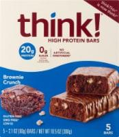 think! Brownie Crunch High Protein Bars - 5 ct / 2.1 oz