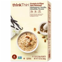 Vanilla Almonds and Pecan Protein and Fiber Hot Oatmeal, 10.58 Ounce Box -- 6 per case.