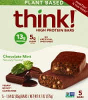 think! Plant Based Mint Chocolate Protein Bars 5 Count - 5 ct / 1.94 oz