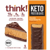think! Chocolate Peanut Butter Pie Keto Protein Bars 5 Count