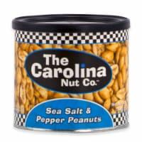 The Carolina Nut Company 12 Oz. Sea Salt/Pepper Peanuts 11008 Pack of 6 - 12 Oz.