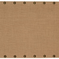 Wooden Corkboard with Nailhead Details, Small, Brown and Bronze - 1 unit