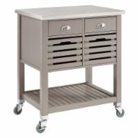 Linon Robbin Wood Kitchen Cart in Gray - 1