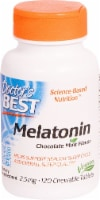 Doctor's Best Chocolate Mint Flavored Melatonin Tablets 2.5mg
